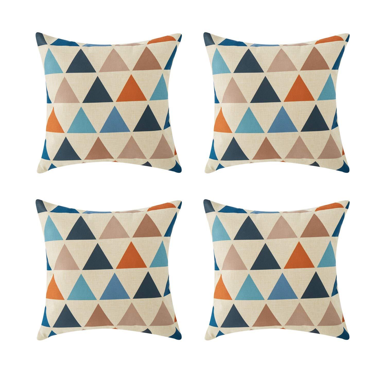 トップFinelソファホーム装飾コットンリネン正方形装飾スロー枕クッションカバーのリビングルーム。 18