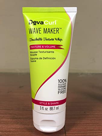 Amazon.com : DevaCurl Wave Maker Touchable Texture Whip - 3oz MINI : Beauty
