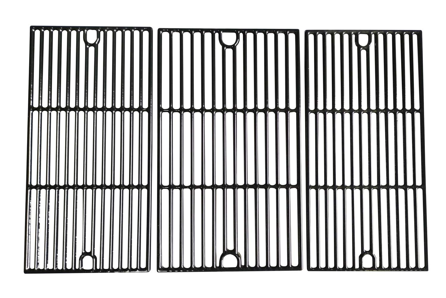 Hongso 17 5/8'' Porcelain Coated Cast Iron Cooking Grid Grates Replacement for Brinkmann 810-2545-W, 810-1456-S, 810-9425-W, 810-9520-S, 810-8300-W, 810-7231-W Gas Grill, Set of 3 (PCG233)