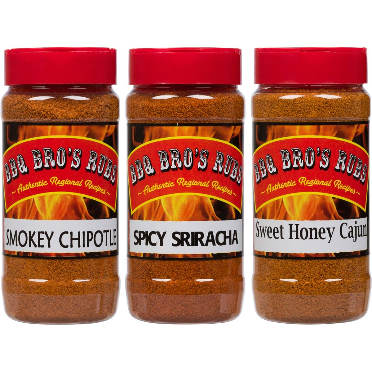 BBQ BROS RUBS {Sweet, Smokey, & Spicy Style } - Ultimate Barbecue Spices Seasoning Set - Use for Grilling, Cooking, Smoking - Meat Rub, Dry Marinade, Rib Rub - Backed with 100% Customer Guarantee