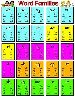 amazon com carson dellosa word families chart 114117 office