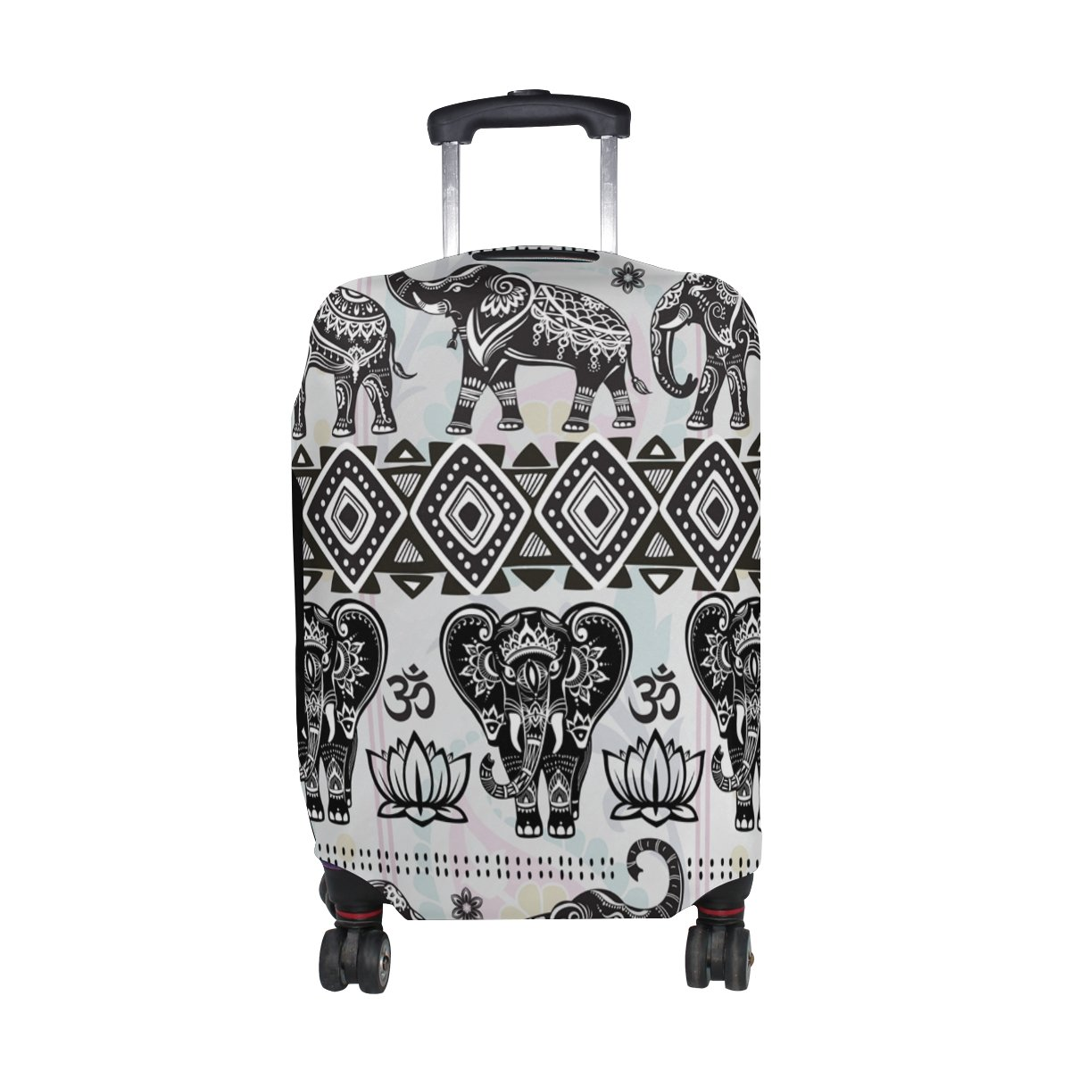 Hippie Indian Elephant Mandala Luggage Cover Travel Suitcase Protector Fits 29-32 Inch Luggage