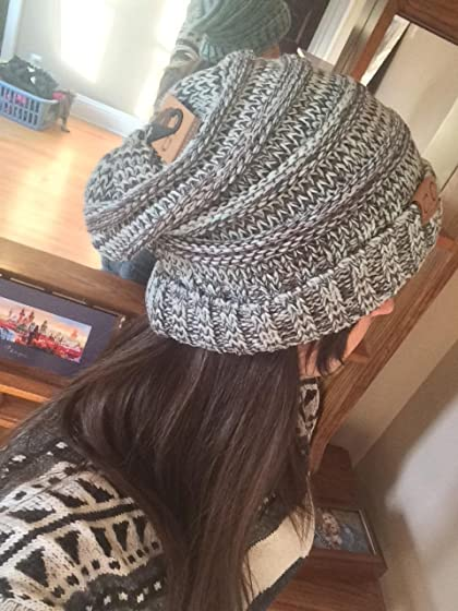 FunkyJunque Trendy Warm Oversized Chunky Soft Oversized Cable Knit Slouchy Beanie Great hat