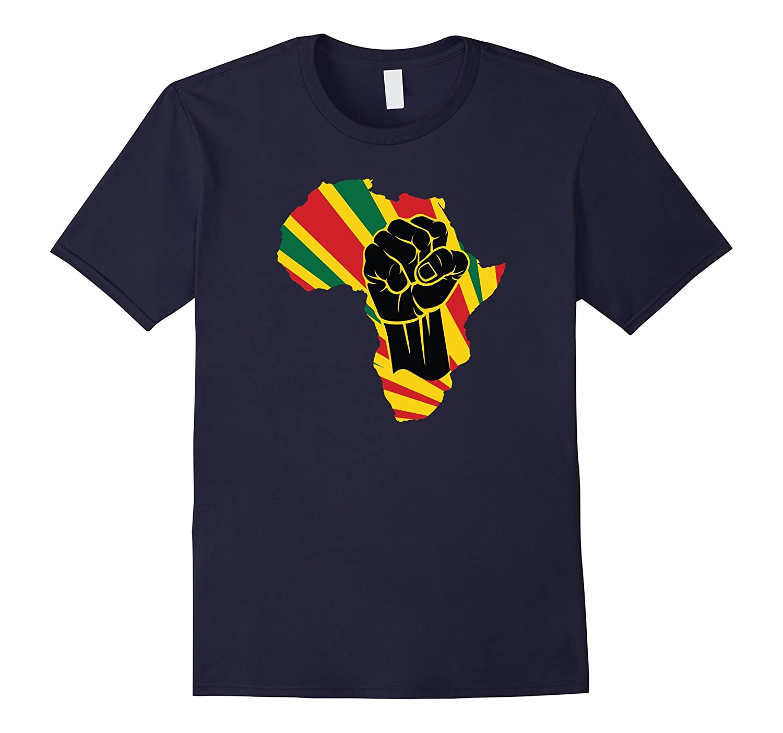 Africa Black Power Africa Map Fist African T-Shirt-ah my shirt one gift