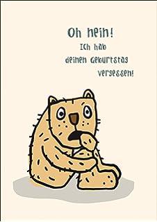 Geburtstagskarte Sorry Zu Spat Katze Amazon De Burobedarf