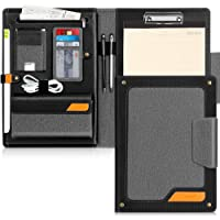Padfolio Portfolio Case, Skycase Business Portfolio Folder, Interview/Conference/Legal Document Organizer with Letter/A4 Size Clipboard, Business Card Holders, Document Sleeve, Black