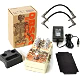 DigiTech Obscura Altered Stereo Delay Pedal with 4 Modes Bundle Includes AC Power Adapter and 2 Path Cables for Guitars