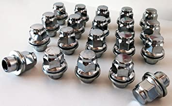 Set de 20 tuercas para llantas de aleación, con rosca de M12 x 1,