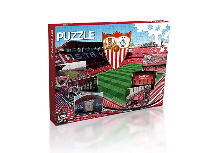 Sevilla FC Puzzle 1000 Piezas (11909), Multicolor: Amazon.es ...