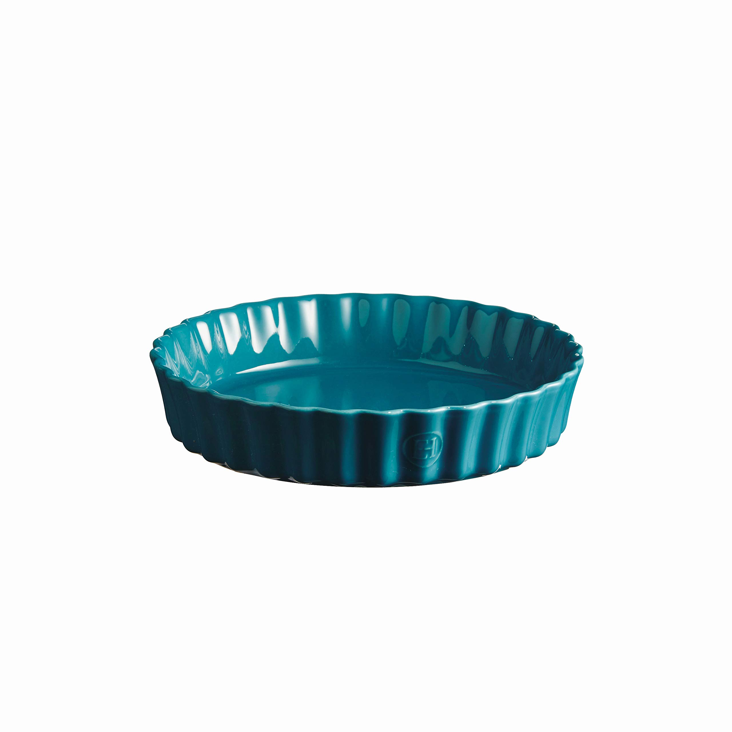 Emile Henry 606024 Deep Flan, Mediterranean Blue Quiche Dish, 1.2 qt by Emile Henry