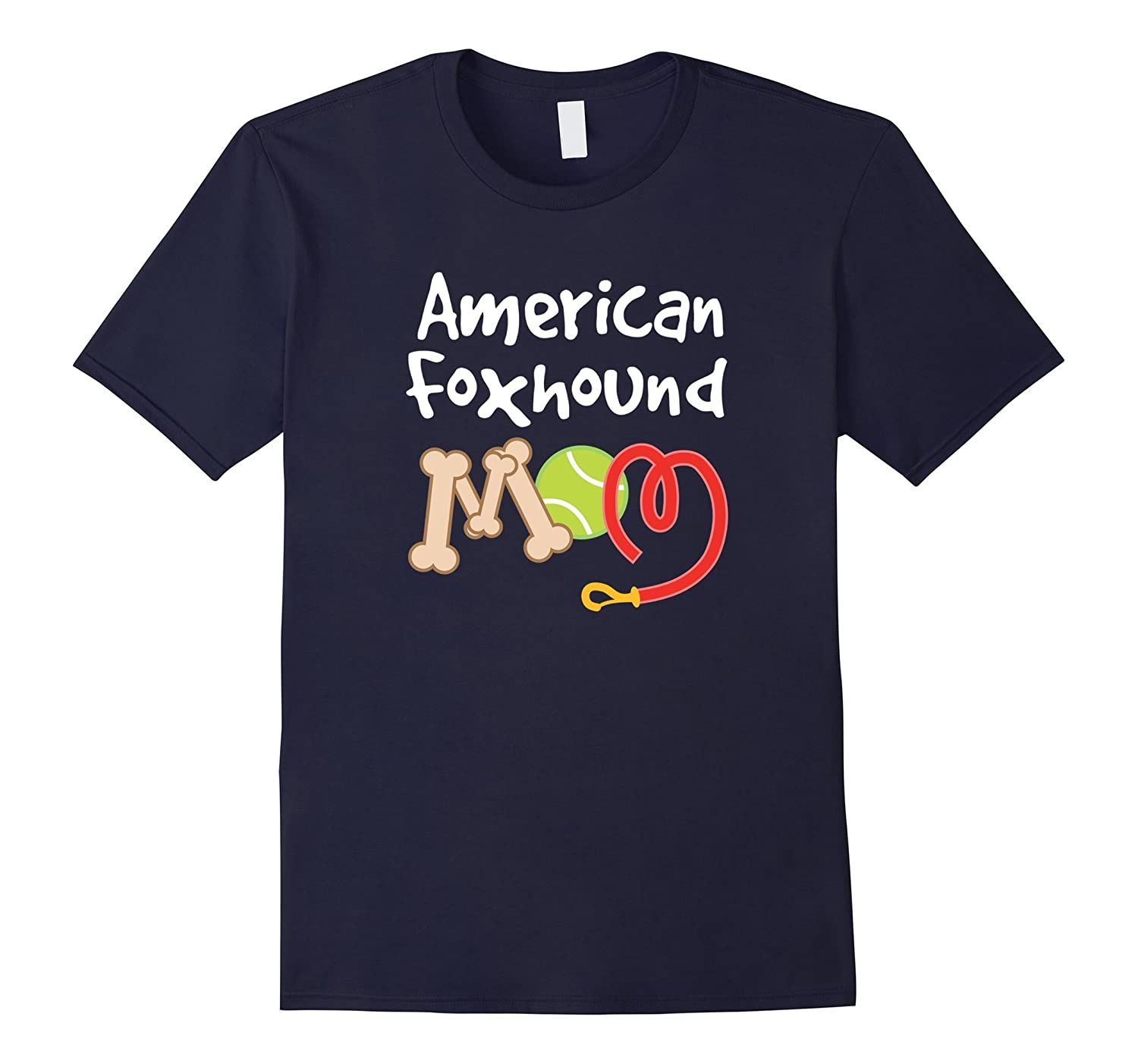 American Foxhound Dog Mom T-shirt Mothers Day Pet Gift-Art