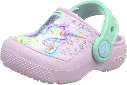 Crocs Kids Fun Lab Unicorn Clog Ballerina Pink//New Mint 1 M US Little Kid