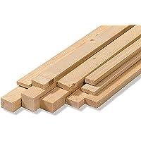 Listones para pared, en bruto, de madera