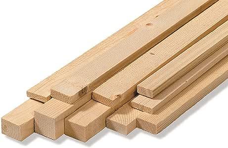 Listones para pared, en bruto, de madera de abeto, medidas: 2,5 x ...