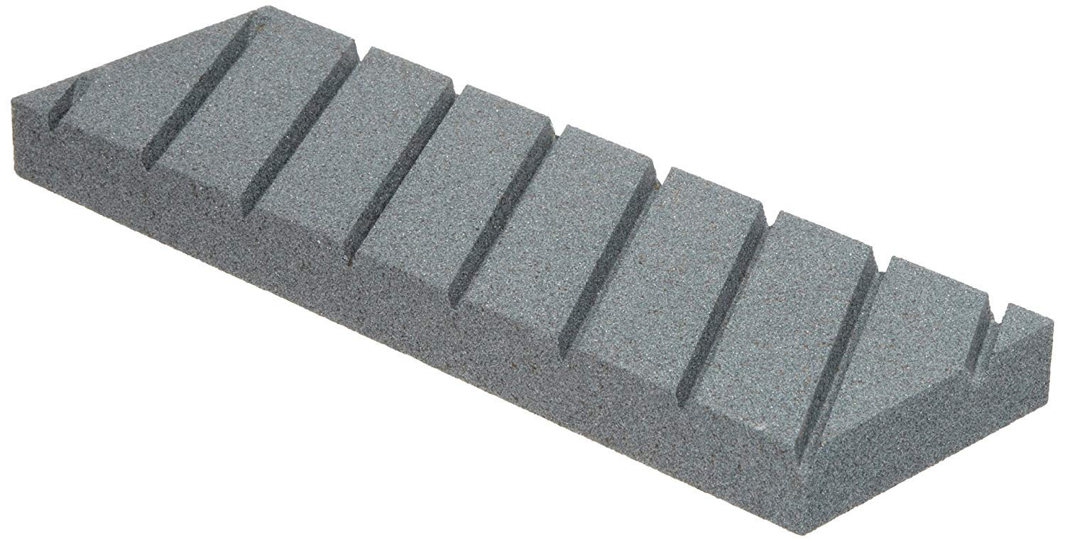 Norton 69936687444 Flattening Stone With Diagonal Grooves For Waterstones, Coarse Grit Silicon Carbide Abrasive, Superbly Flat With Hard Bond, Plastic Case, 9'' x 3'' x 3/4'' by Norton Abrasives - St. Gobain