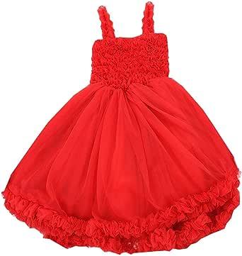 RuffleButts Baby/Toddler Girls Ruffled Princess Pettiskirt Costume Flower Girl Birthday Dress