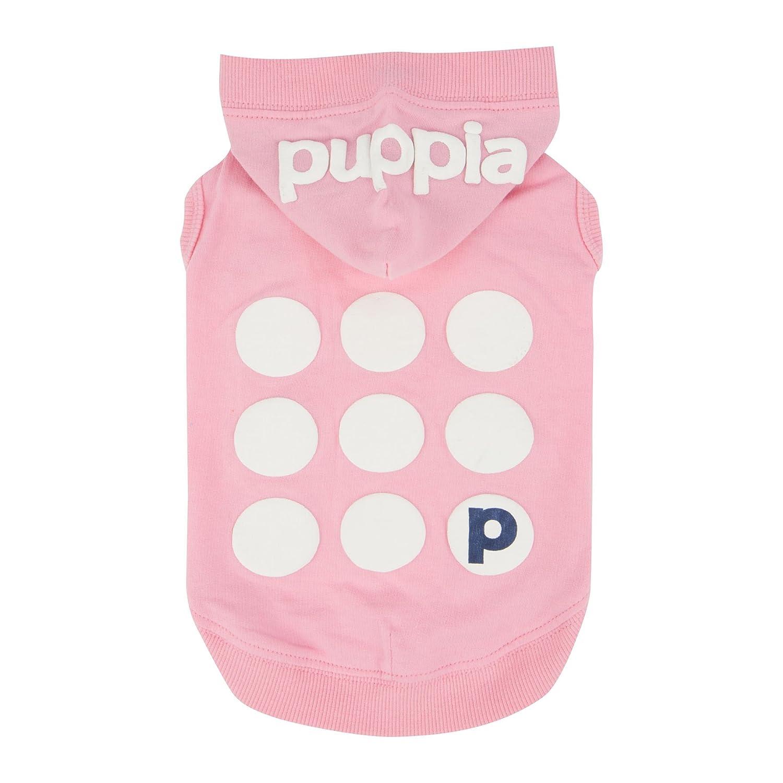 Puppia PARA-TS1509-PK-L Pink Emmy Pet-Hoodies, Large