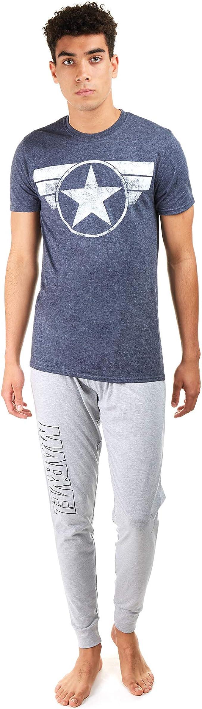 Marvel Cap Logo Juego de Pijama, Multicoloured, XX-Large para ...