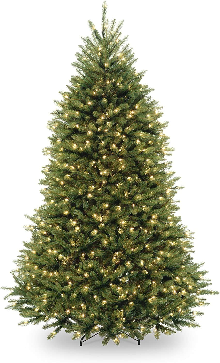 National Tree Company lit Artificial Christmas Tree Includes Pre-strung White Lights and Stand, Dunhill Fir - 6.5 ft, Green