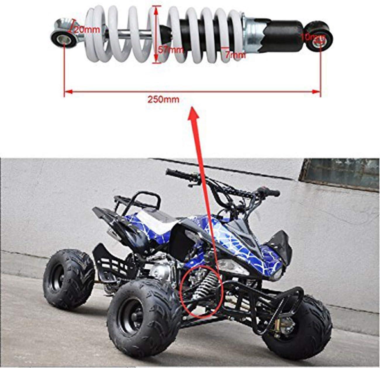 Fuerduo 1PCS 9 7//8 250mm Rear Spring Assist Load Carrier Shocks for ATV Go Kart Quad Bike 4 Wheeler