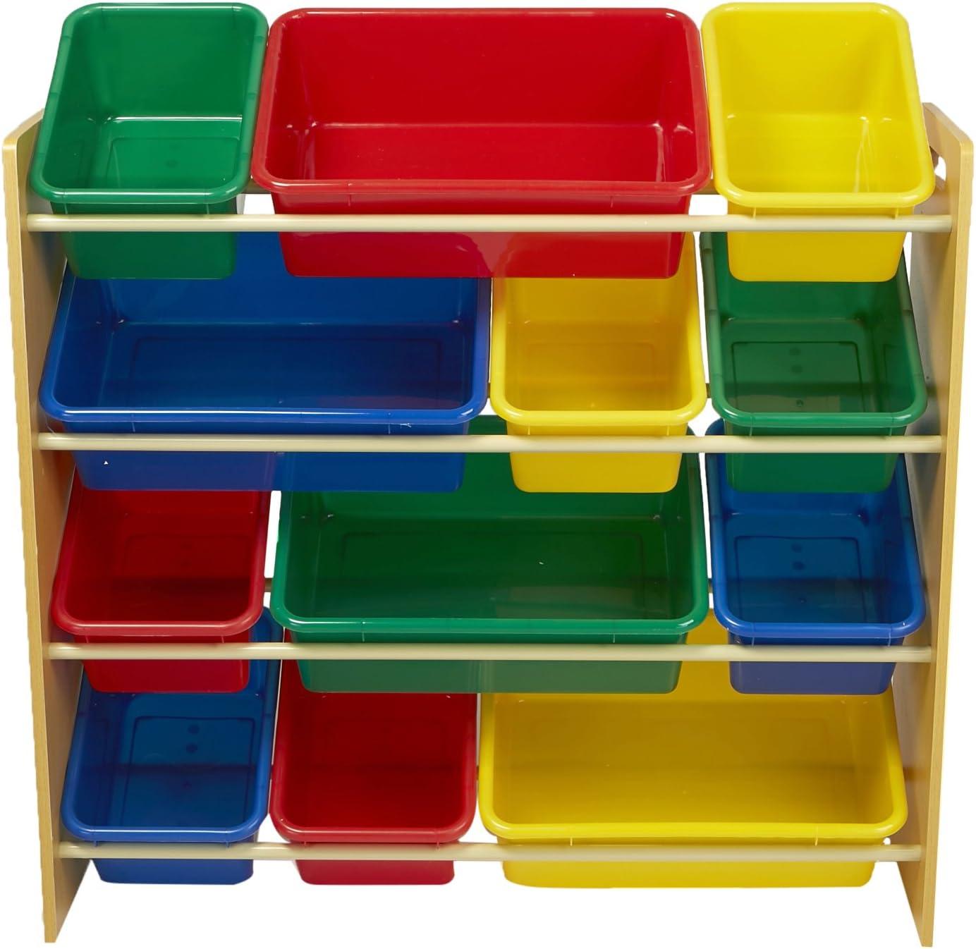 Mind Reader Toy Storage Organizer with 9 Storage Bins Kids Storage for Bedroom White 3TOYG-WHT
