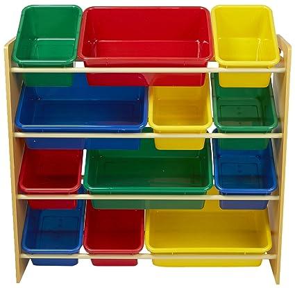 Mind Reader Toy Storage Organizer With 12 Storage Bins, Kids Storage For  Bedroom