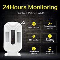 Tester voor analyse van de luchtkwaliteit, intelligente WLAN, Home Smog Meter, CO2 HCHO TVOC Detector temperatuursensor