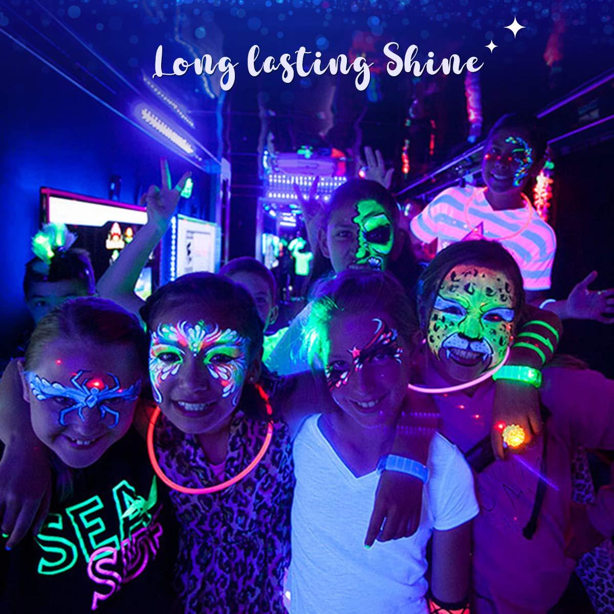 Luckyfine-8-x-28g-Pintura-Corporal-y-Facial-UV-Glow-Pintura-Neon miniatura 3