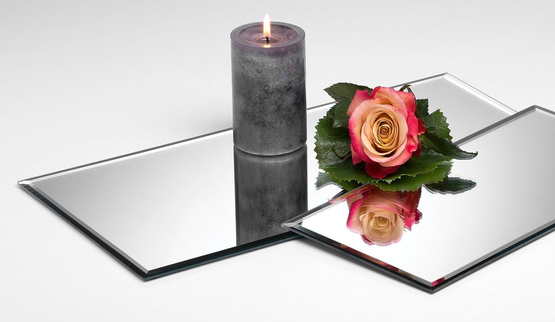 5x Glasplatte Spiegelplatte Mirror eckig 0,5 cm Ø 40,0 x 20,0 cm von Sandra Rich