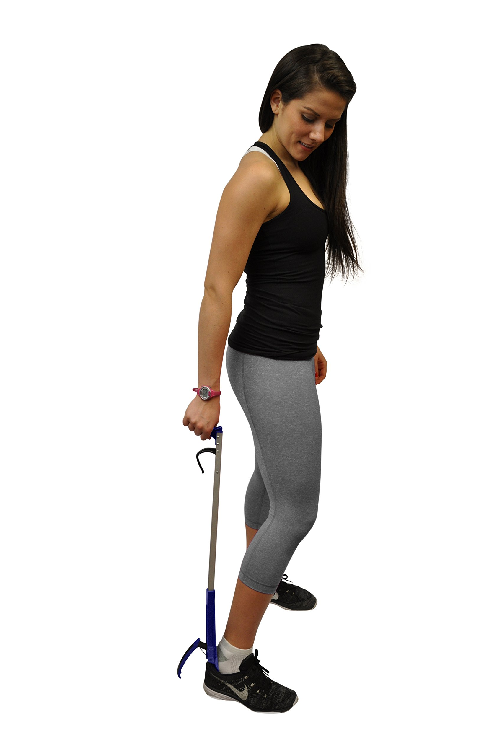 32'' Shoehorn Long Handle Shoe Gripper and Reacher by Mars Wellness