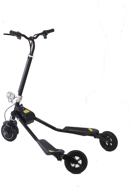 UNITED TRADE Patinete eléctrico de tres ruedas, patinete eléctrico de mariposa, patinete con luz LED, triciclo eléctrico con certificaciones
