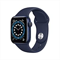 $399 » New AppleWatch Series 6 (GPS, 40mm) - Blue Aluminum Case with Deep Navy Sport Band