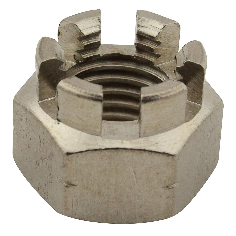 Kronenmutter - M20 - ( 1 Stü ck ) - DIN 935 / ISO 7036 - rostfreier Edelstahl A2 (V2A) / NIRO - SC935 | SC-Normteile