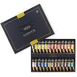 CrushOn Mission Gold Class Pure Pigment Watercolors Set 15 Milliliter x 24 Colors (7 Milliliter x 2ea) with 24 Space Palette by CrushOn