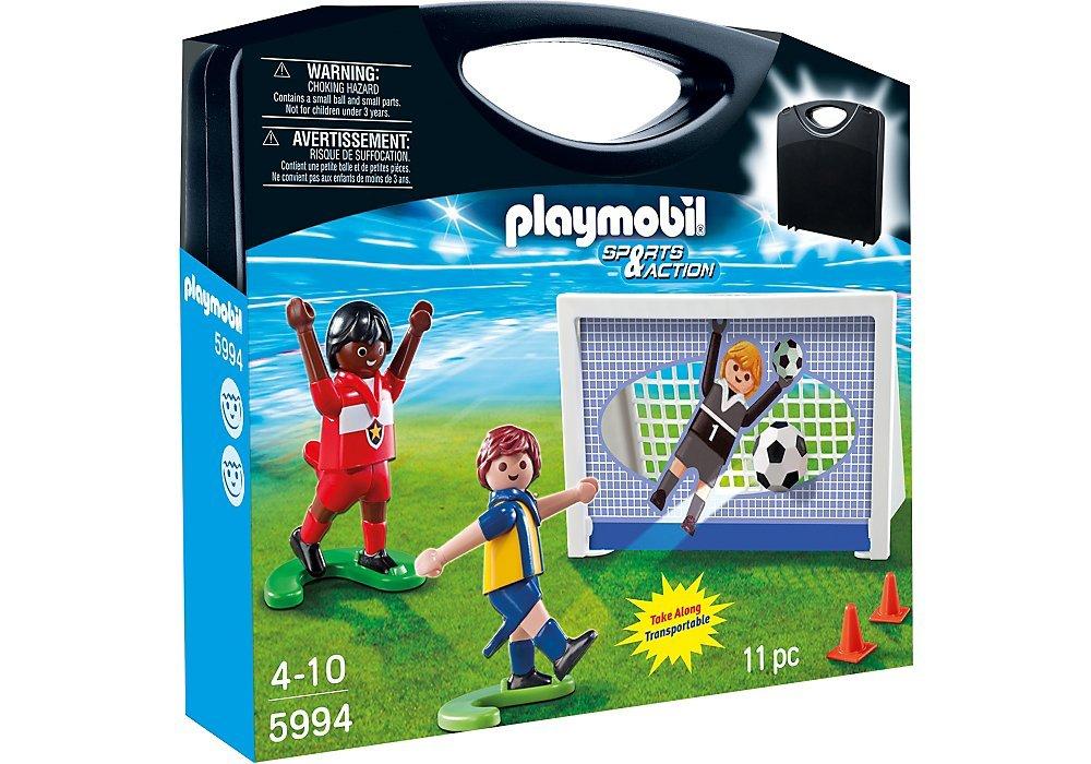 PLAYMOBIL 5994 Sport und Action Fußball Tragetasche, Fußballtor