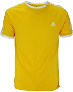 Adidas Mens Short Sleeve Striped Tee