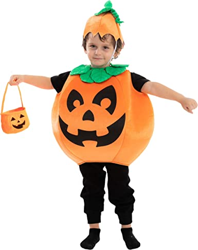Toddler Baby Kid Girl Boy Halloween Pumpkin Costume Clothes Hat Fancy Outfit Set