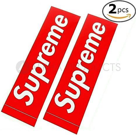 Supremo pegatinas Skate pegatinas 2 piezas Tamaño grande (8 cm x 2 ...
