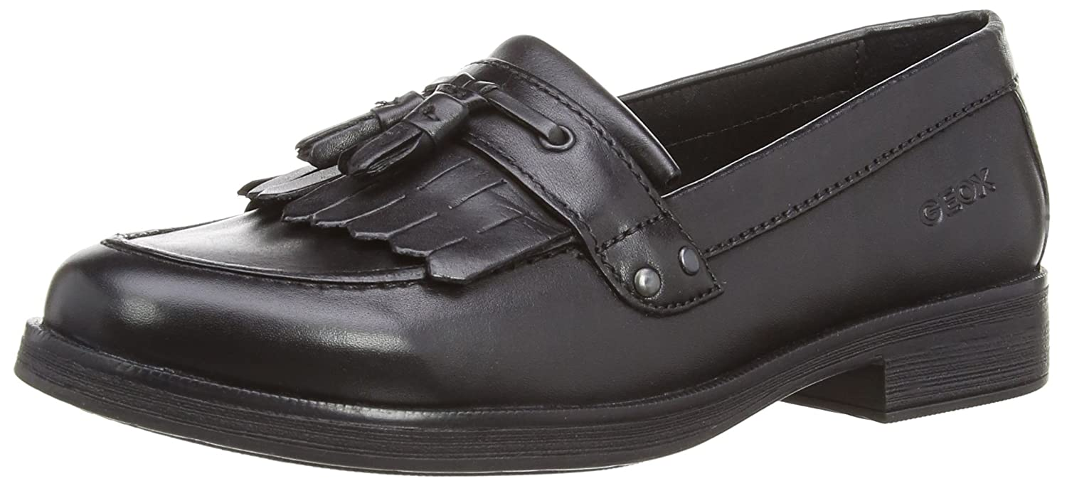 Geox Junior Agata A Black Leather School Shoes Nero 37 4 UK
