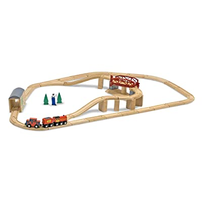 Melissa & Doug Swivel Bridge Train Set: Melissa & Doug: Toys & Games