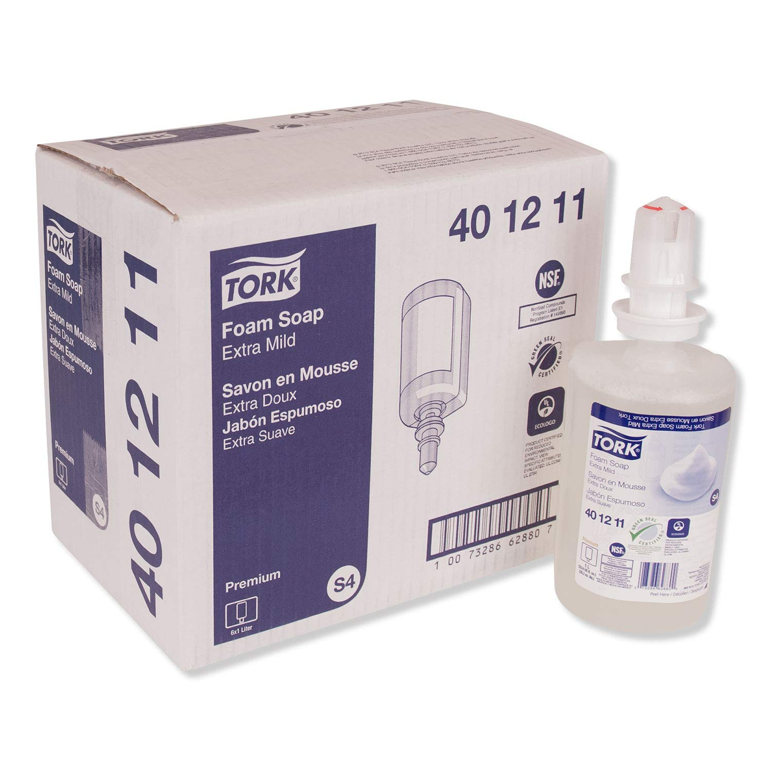 Tork Extra Mild Foam Soap - 401211 - Soap for S4 Dispenser Systems - Premium Quality, Fragrance- and Dye-free 1 x 33.815 fl oz: Industrial & Scientific