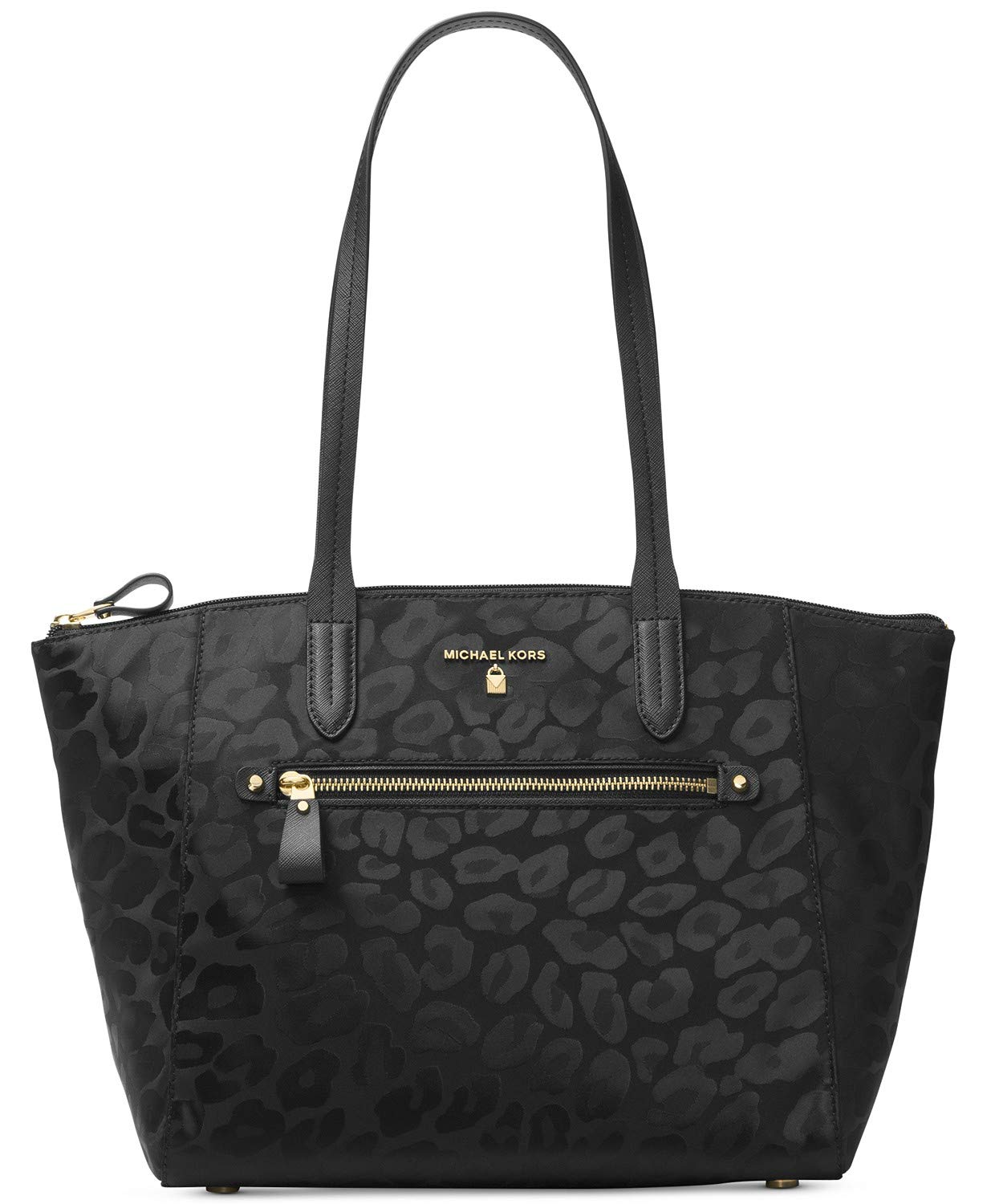 MICHAEL Michael Kors Women's Nylon Kelsey Medium Top Zip Tote, Black, One Size