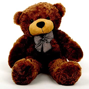de76caa34f7 Buy 2 Feet Brown Teddy Bear with a Bow Online at Low Prices in India -  Amazon.in