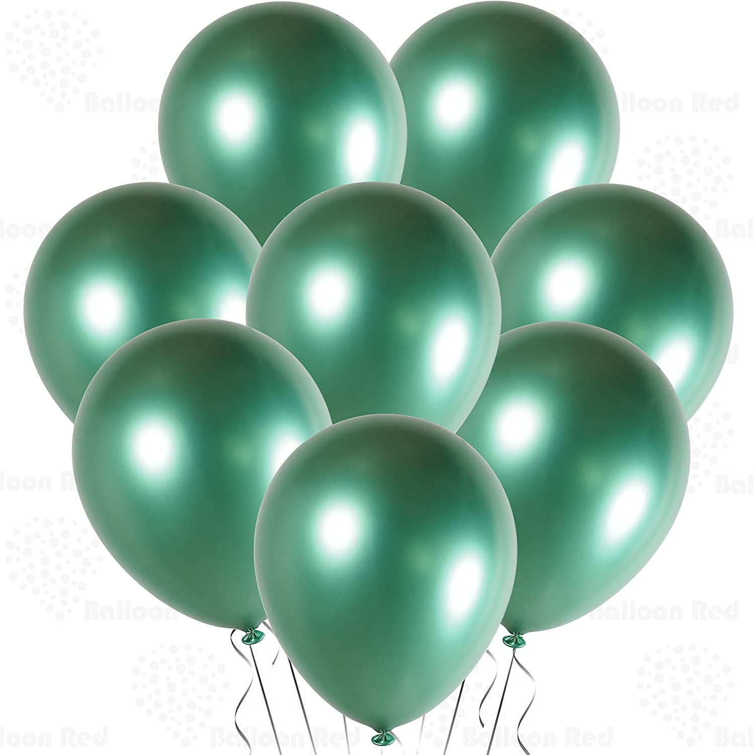 """24 Latex Balloons 12/"""" When Inflated Solid Colors Forest Green"""