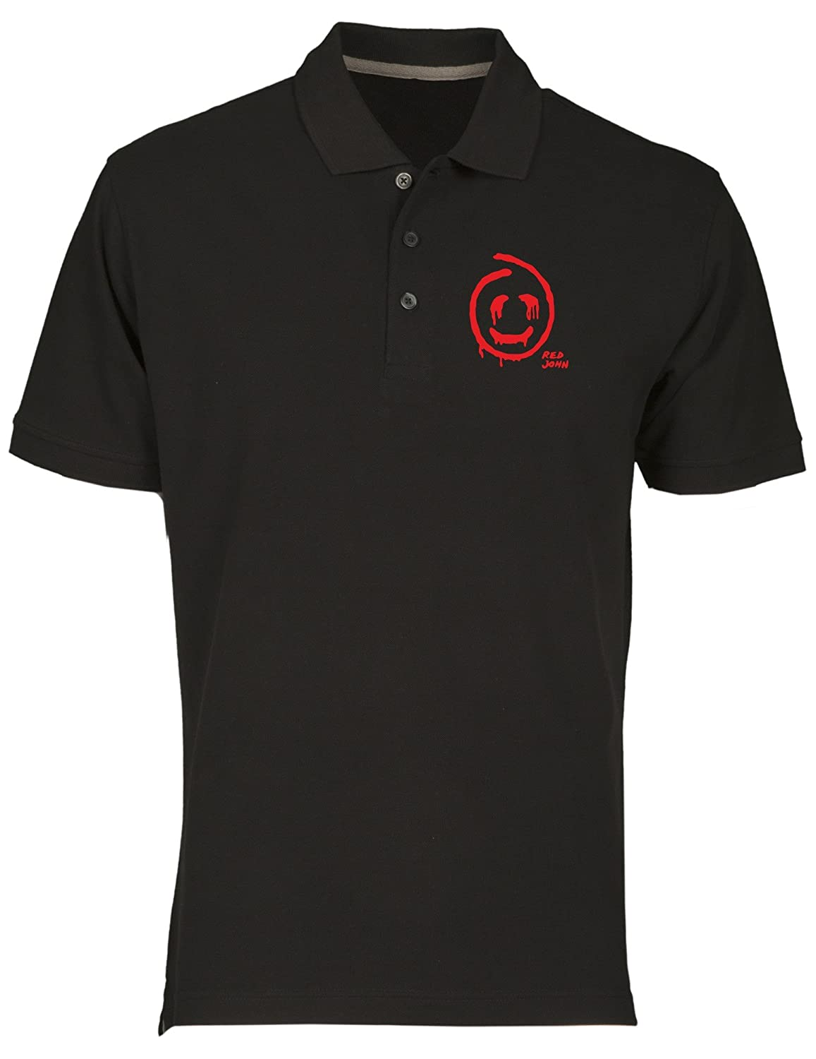 Polo fur Mann Schwarz OLDENG00619 Red John Mentalist White