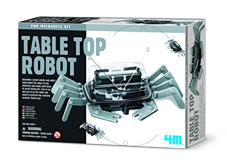 amazon com 4m table top robot packaging vary toys games 4m table top robot packaging vary