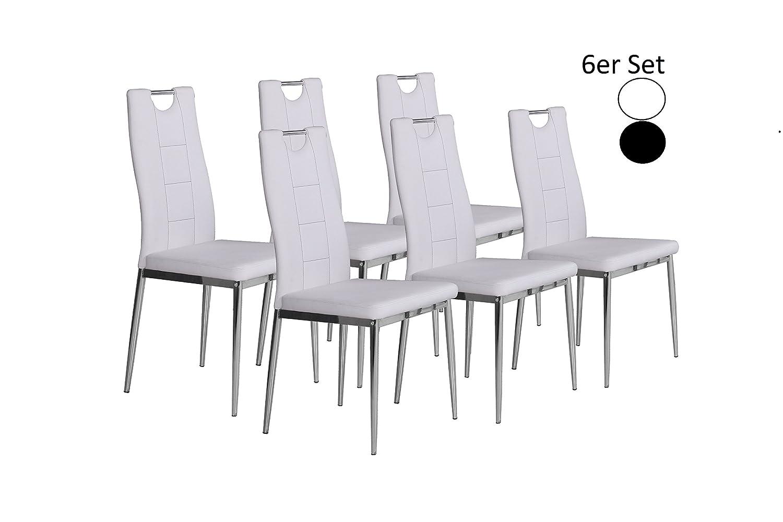 CAVADORE Stuhl 6-er Set Bambi / 6X Esszimmerstuhl in Modernem Design ...