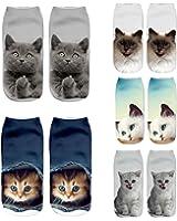 Zmart Women Girls 3D Crazy Funny Cute Cartoon Animals Short Ankle Socks