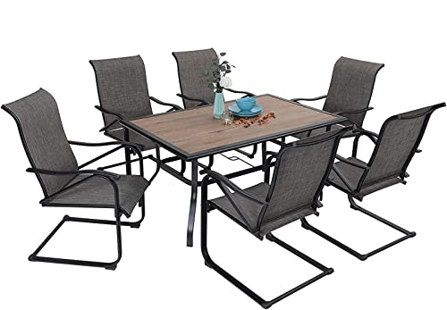 MFSTUDIO 7PCS Patio Dining Set