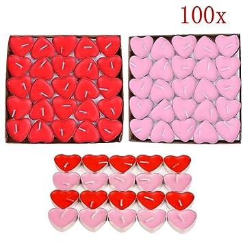 Jzk 100 X Liebeskerzen Romantische Kerzen Rauchfreie Teelicht Fur